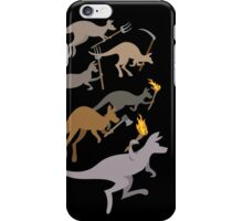 A Mob of Kangaroos iPhone Case/Skin