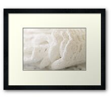 White Cotton Framed Print