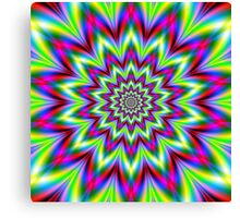 Psychedelic Star Flower Canvas Print