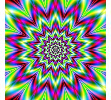 Psychedelic Star Flower Photographic Print