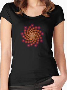 'Janus Spiral 2' Women's Fitted Scoop T-Shirt