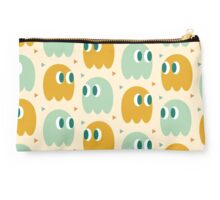 Retro Ghost Pattern Studio Pouch