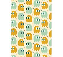 Retro Ghost Pattern Photographic Print