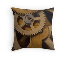 Cogs and Wheels Throw Pillow