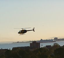 Helicopter over Albert Park by dkhowodd