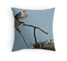 rebuilding the nest Throw Pillow
