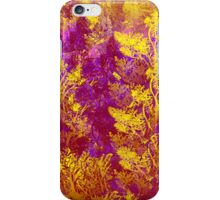 Golden Leaves on Pink and Purple iPhone Case/Skin