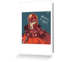 Magneto - Erik Lehnsherr Greeting Card