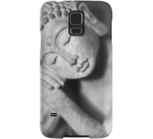 Black and white Buddha Samsung Galaxy Case/Skin