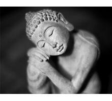 Black and white Buddha Photographic Print
