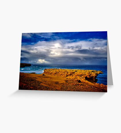 """""""At The Edge, In The Face Of A Storm"""" Greeting Card"""
