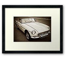 White convertible MG Framed Print