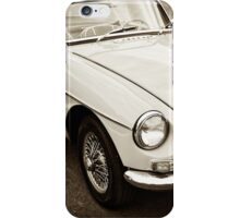 White convertible MG iPhone Case/Skin