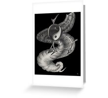 yin yan Greeting Card