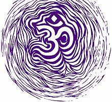 Purple Om Ripple by Matthew Sergison-Main