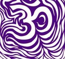 Purple Om Ripple Sticker