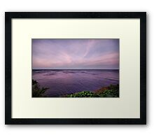 Purple water Framed Print