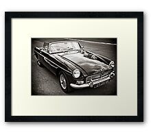 Black convertible MG Framed Print
