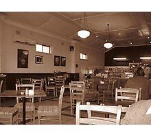 Retro Cafe Photographic Print