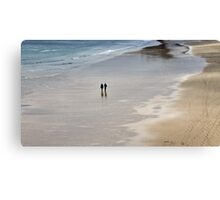 Alone On A Beach Canvas Print