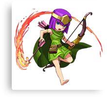 Archer Clash of Clans Draw Art Canvas Print