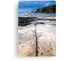 Port Gaverne Beach Canvas Print