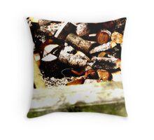 Fire Wood Throw Pillow