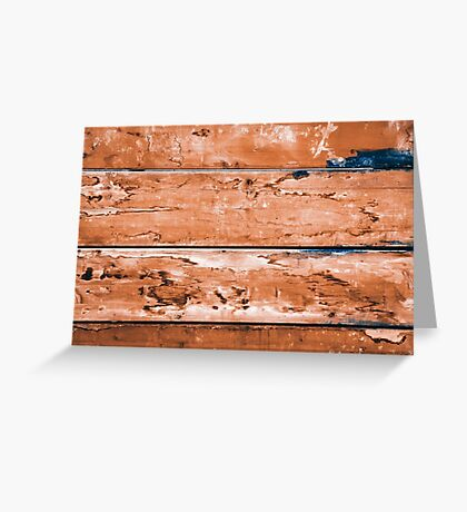Abstract wood background with faded brown paint Greeting Card