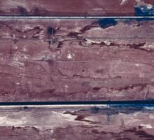 Abstract wood background with faded brown paint Sticker