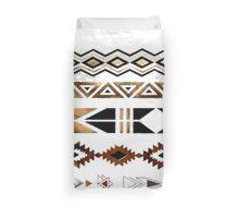 Tribal Aztec Gold and Black Design Duvet Cover