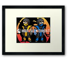 Mortal Kombat Pixelized  Framed Print