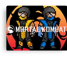 Mortal Kombat Pixelized  Canvas Print
