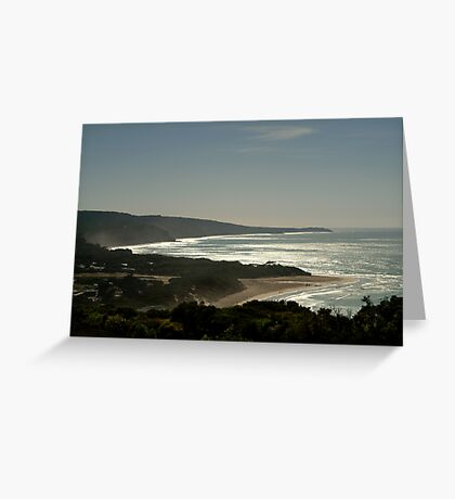 Harsh Light Anglesea,Great Ocean Rd Greeting Card