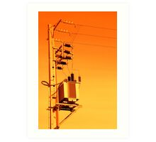 Electricity distribution equipment Art Print