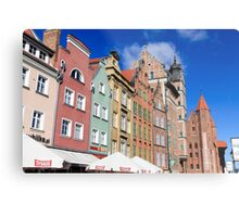 Gdansk, Poland renovated buildings near the old Town Hall Metal Print