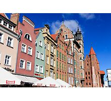 Gdansk, Poland renovated buildings near the old Town Hall Photographic Print