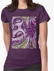 bohemian trendy lilac grape purple swirls pattern hipster Womens Fitted T-Shirt