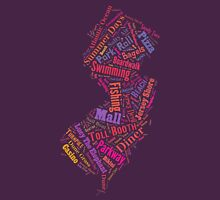 New Jersey Wordle - Pink Womens Fitted T-Shirt