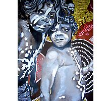 Aboriginal brothers Photographic Print
