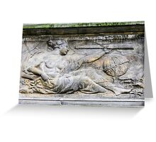 Astronomy. 18th century Science bas relief  Greeting Card