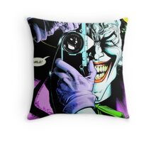 A Deathly Chuckle Throw Pillow