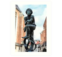Fountain sculpture, Krakow, Poland Art Print