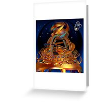 Outlook in space Greeting Card
