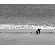 Beach fun in winter Photographic Print