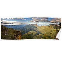 Jamison Valley Panorama. Poster