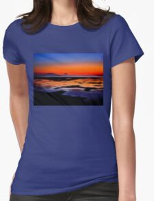 beautiful sunset seascape landscape Womens Fitted T-Shirt