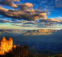 The Three Sisters from Echo Point by Kounelli