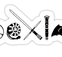 COEXIST SCI FI VERSION 2015 (Black & White) Sticker