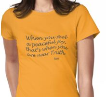 r4~ Peaceful JOY ~ Rumi Womens Fitted T-Shirt