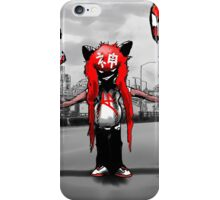 wolf boy with balloons iPhone Case/Skin